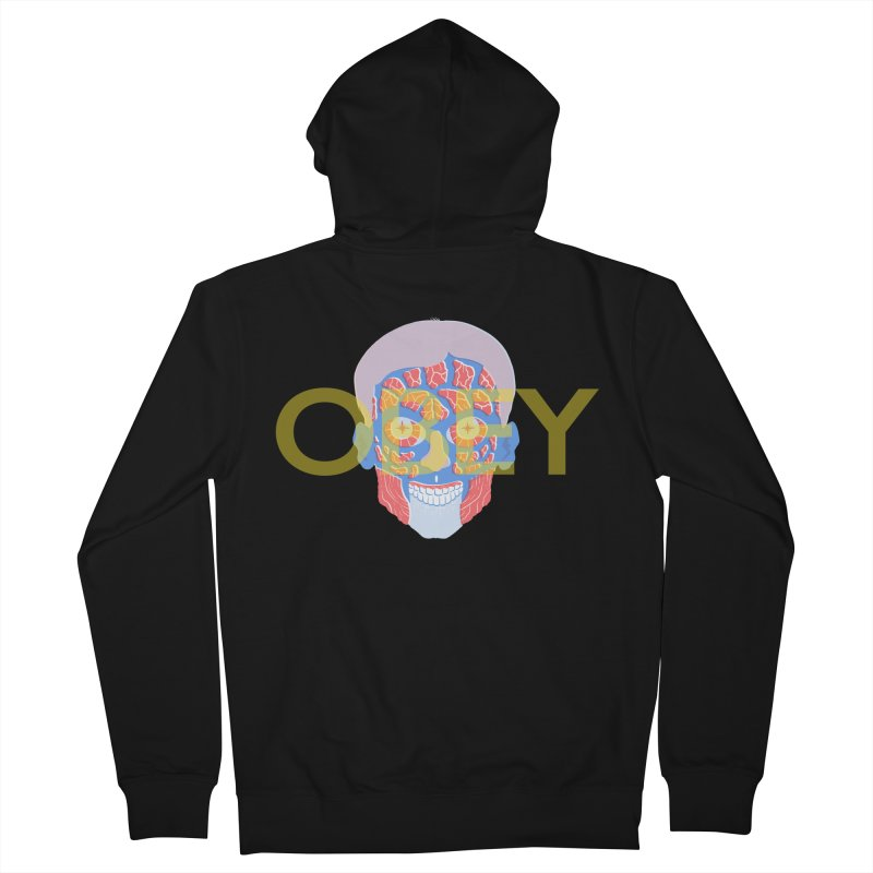 They Live We Sleep Men's French Terry Zip-Up Hoody by Filmish Tees