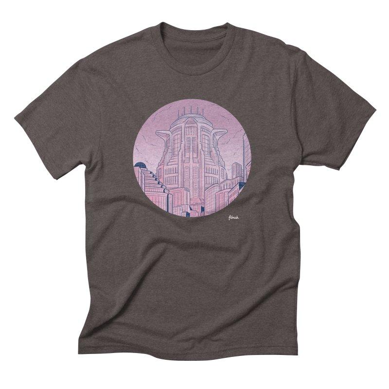 Metropolis Men's Triblend T-Shirt by Filmish Tees