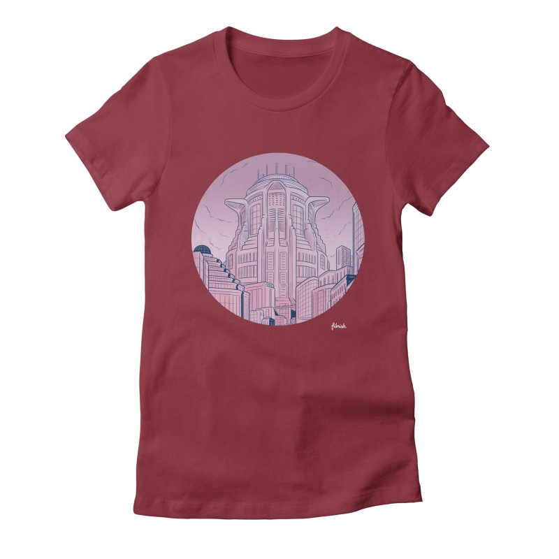 Metropolis Women's Fitted T-Shirt by Filmish Tees