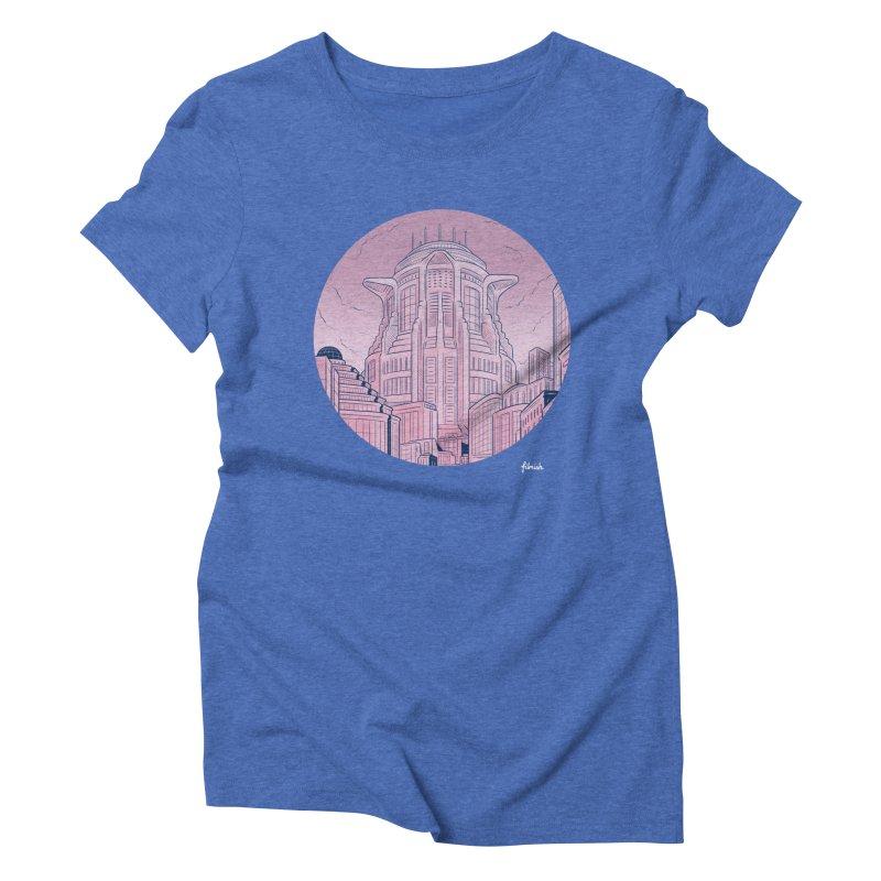 Metropolis Women's Triblend T-shirt by Filmish Tees