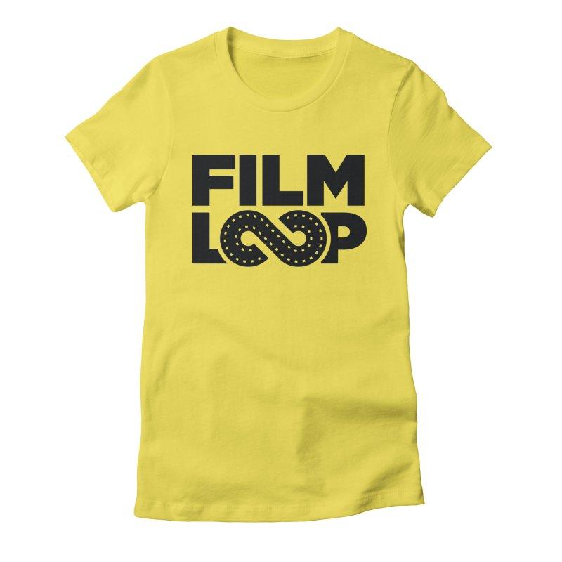 Film Loop Dark Women's Fitted T-Shirt by Film Loop Show