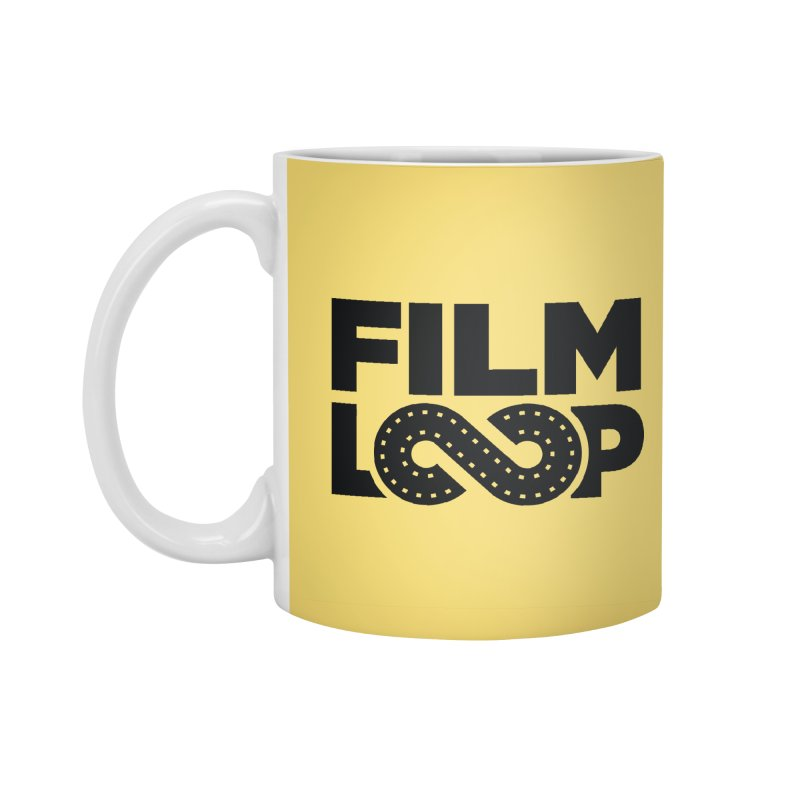 Film Loop Black in Standard Mug White by Film Loop Show