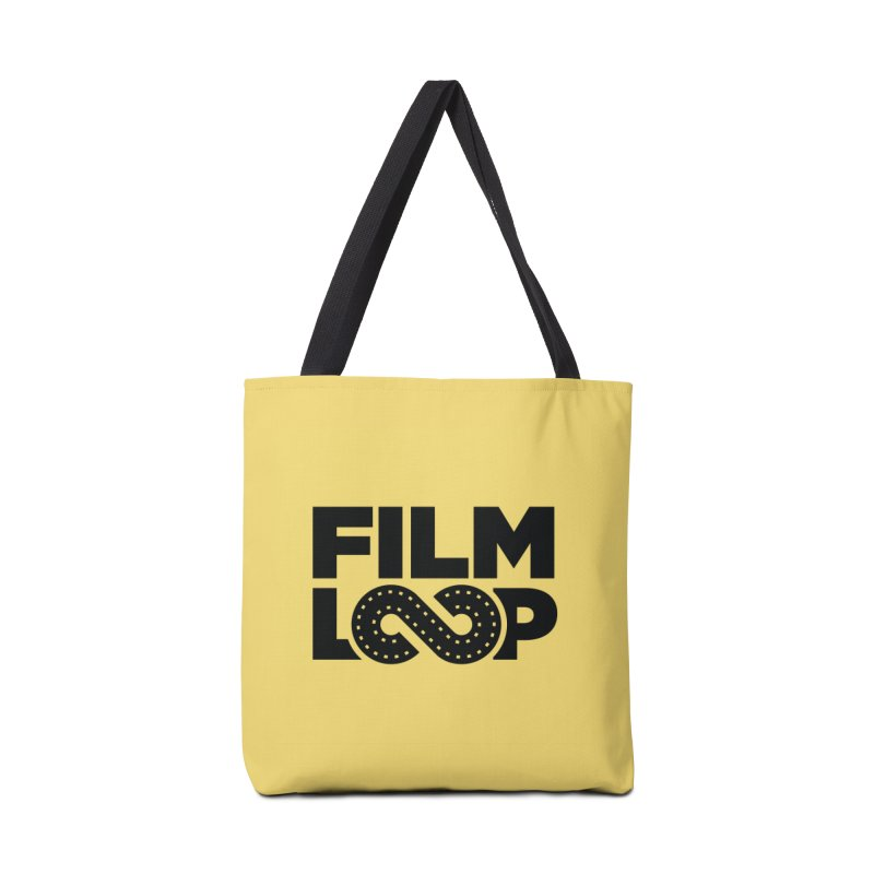 Film Loop Black in Tote Bag by Film Loop Show