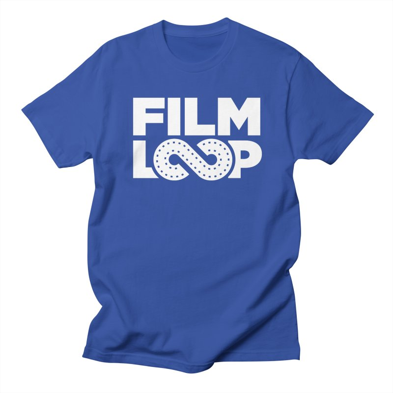 Film Loop White Men's Regular T-Shirt by Film Loop Show