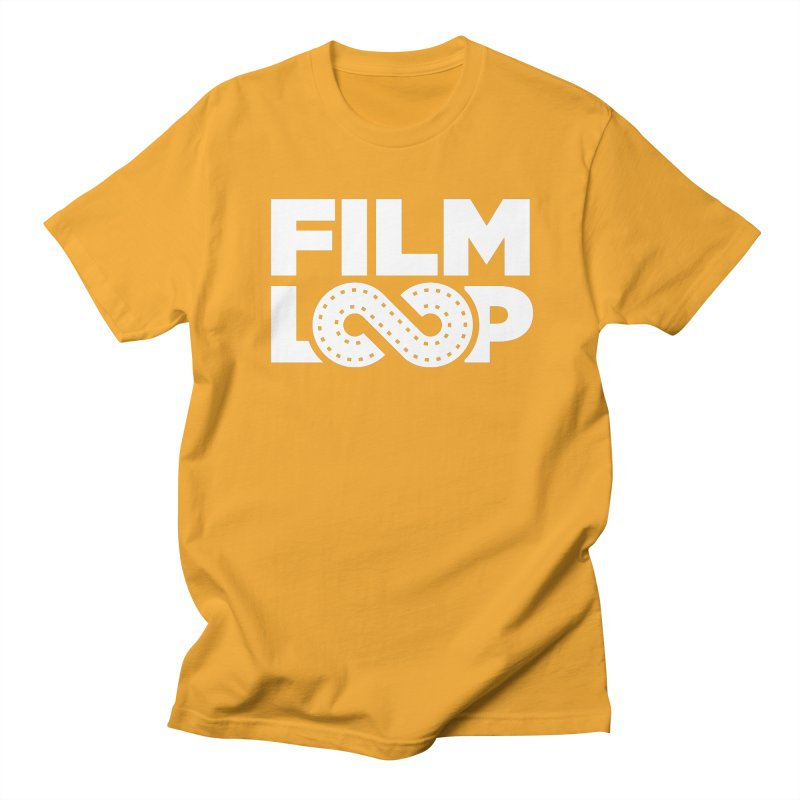 Film Loop White Men's Regular T-Shirt by Film Loop Show
