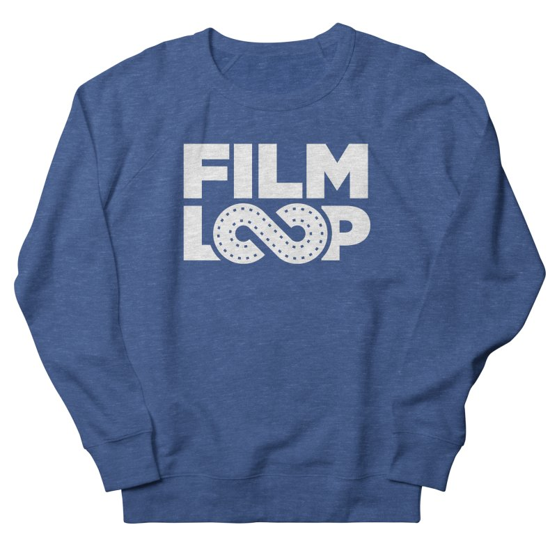 Film Loop White in Men's French Terry Sweatshirt Heather Royal by Film Loop Show