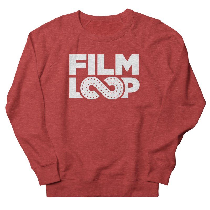 Film Loop White Men's French Terry Sweatshirt by Film Loop Show