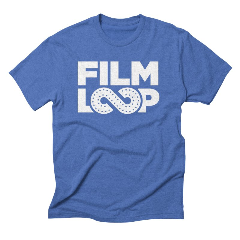 Film Loop White Men's Triblend T-Shirt by Film Loop Show