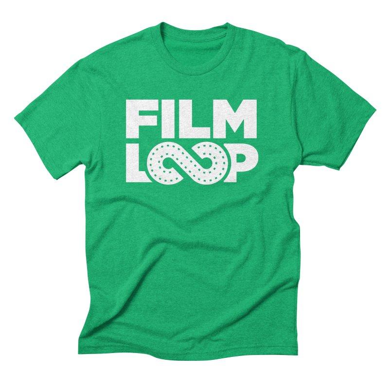 Film Loop White Men's Triblend T-Shirt by Film Loop Show
