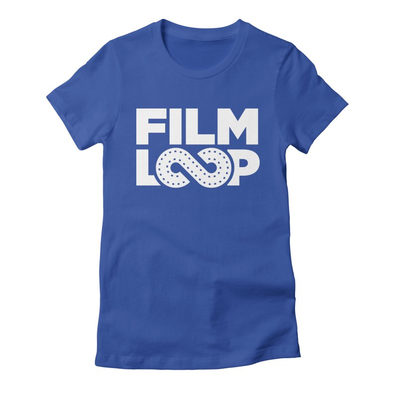 Film Loop White in Women's Fitted T-Shirt Royal Blue by Film Loop Show