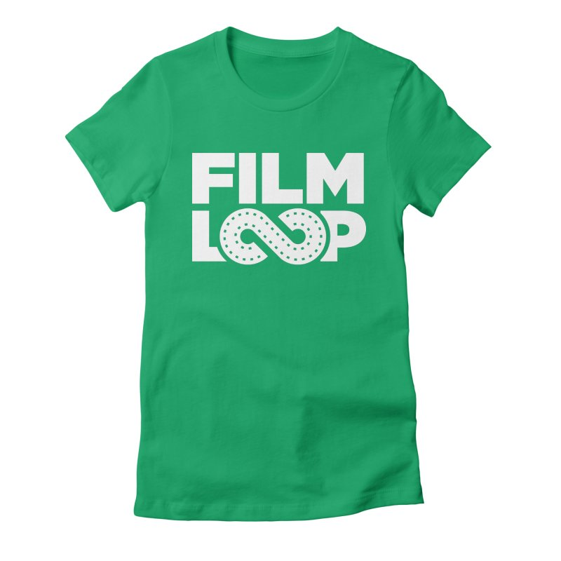 Film Loop White Women's Fitted T-Shirt by Film Loop Show