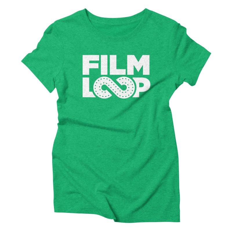 Film Loop White Women's Triblend T-Shirt by Film Loop Show