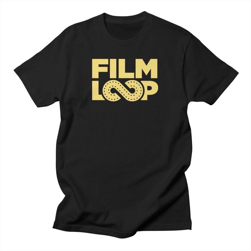 Film Loop Yellow Men's T-Shirt by Film Loop Show