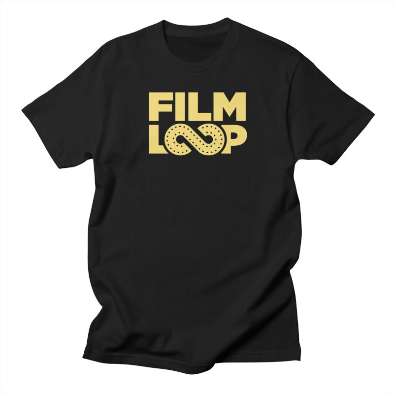 Film Loop Yellow in Men's Regular T-Shirt Black by Film Loop Show