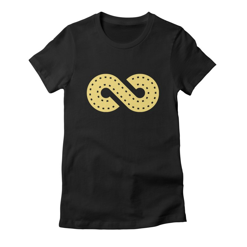 The Loop in Women's Fitted T-Shirt Black by Film Loop Show