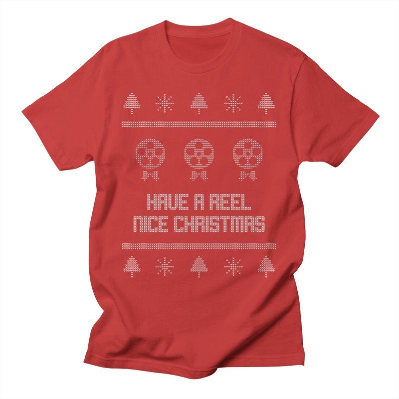Reel Nice Ugly Christmas Sweater Men's T-Shirt by Film Loop Show