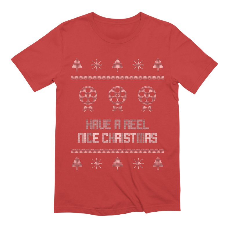 Reel Nice Ugly Christmas Sweater Men's Extra Soft T-Shirt by Film Loop Show