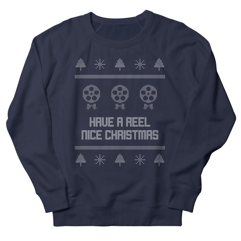 Reel Nice Ugly Christmas Sweater Men's French Terry Sweatshirt by Film Loop Show