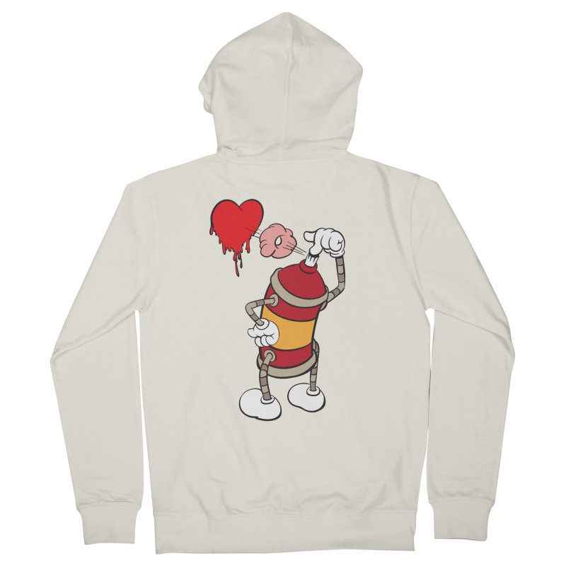 Spray Can Love Men's Zip-Up Hoody by filsoofdesigns's Artist Shop
