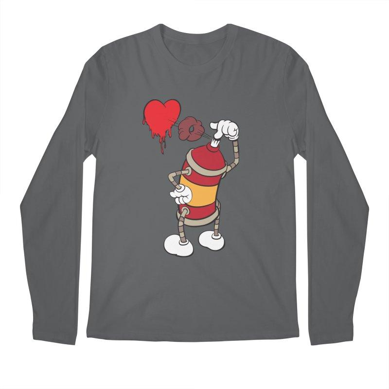 Spray Can Love Men's Longsleeve T-Shirt by filsoofdesigns's Artist Shop