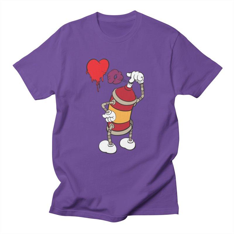 Spray Can Love Men's T-shirt by filsoofdesigns's Artist Shop