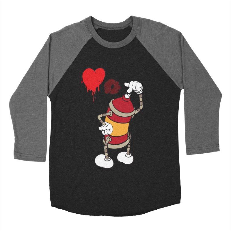 Spray Can Love Women's Baseball Triblend T-Shirt by filsoofdesigns's Artist Shop