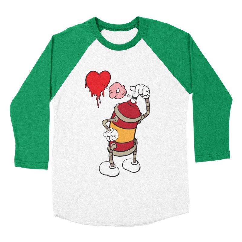 Spray Can Love Men's Baseball Triblend T-Shirt by filsoofdesigns's Artist Shop