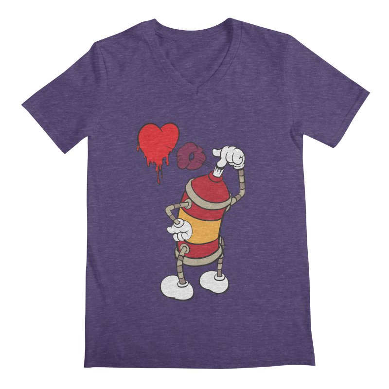 Spray Can Love Men's V-Neck by filsoofdesigns's Artist Shop