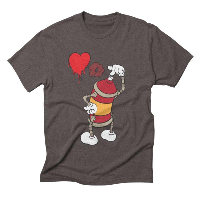 Spray Can Love Men's Triblend T-shirt by filsoofdesigns's Artist Shop