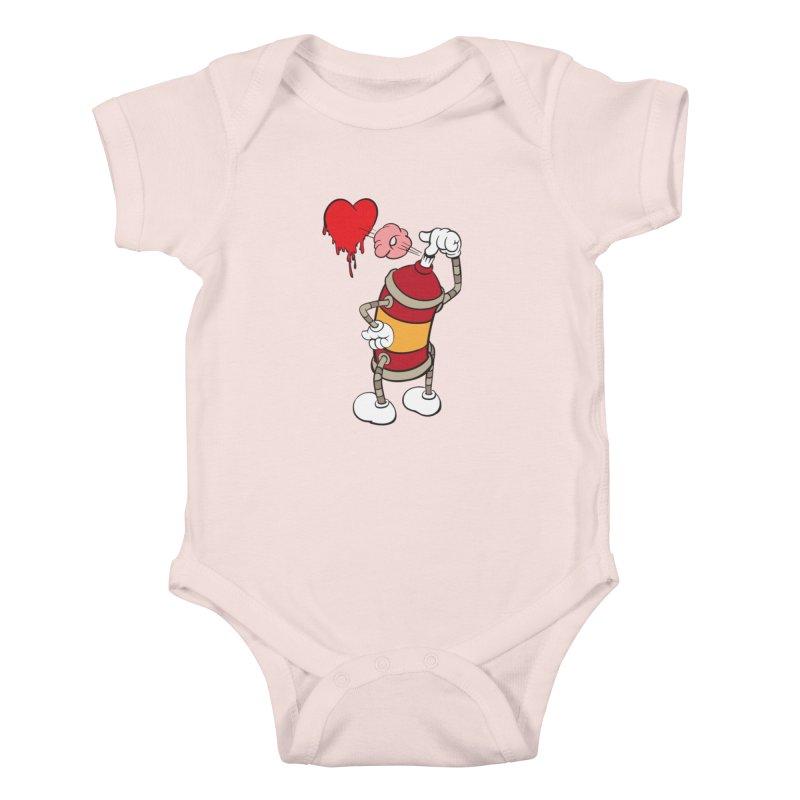 Spray Can Love Kids Baby Bodysuit by filsoofdesigns's Artist Shop
