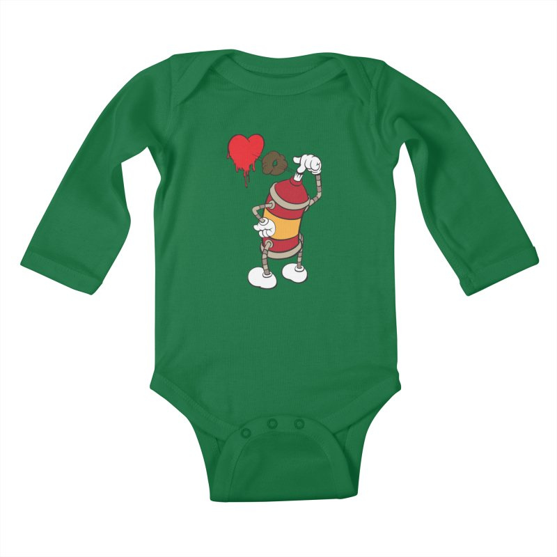Spray Can Love Kids Baby Longsleeve Bodysuit by filsoofdesigns's Artist Shop