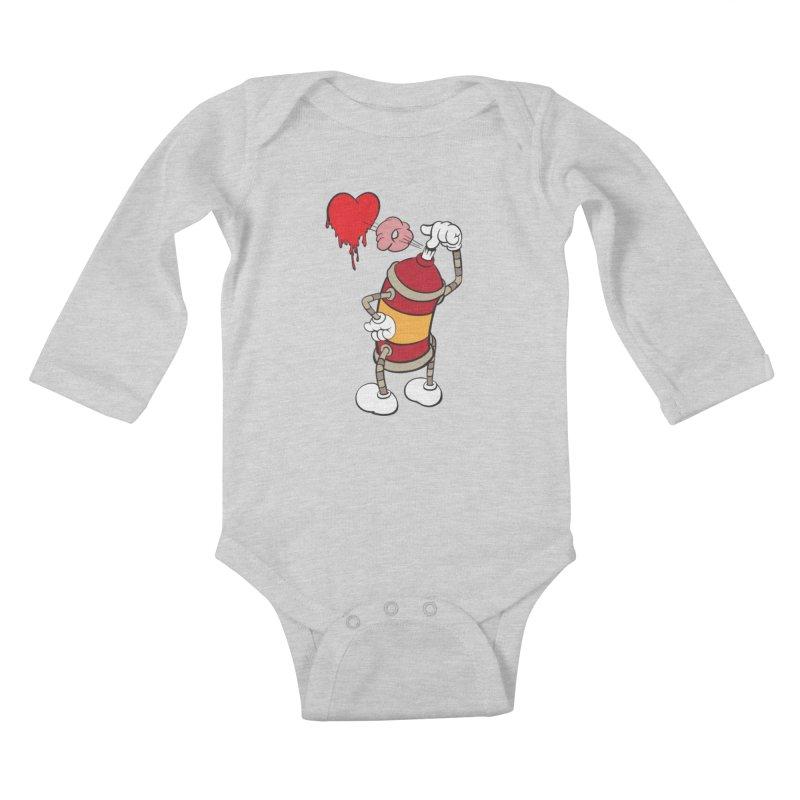 Spray Can Love Kids Baby Longsleeve Bodysuit by filsoofdesigns's Artist Shop