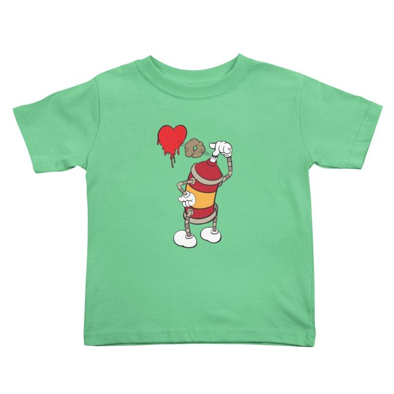Spray Can Love Kids Toddler T-Shirt by filsoofdesigns's Artist Shop