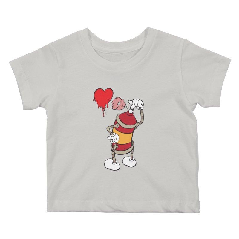 Spray Can Love Kids Baby T-Shirt by filsoofdesigns's Artist Shop
