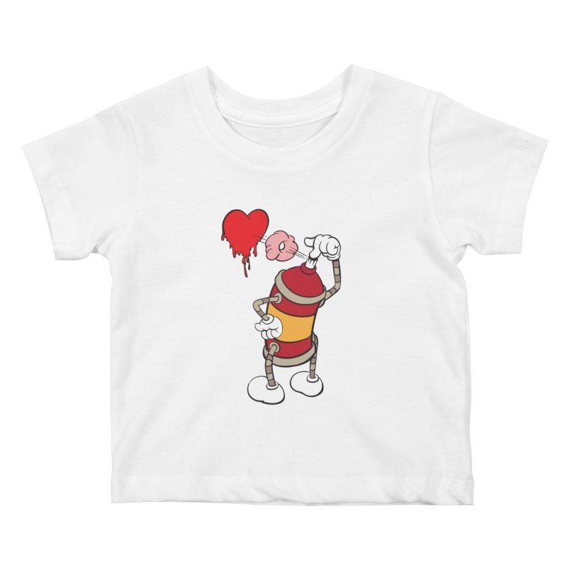 Spray Can Love Kids Baby T-Shirt by filsoofdesigns's Artist Shop