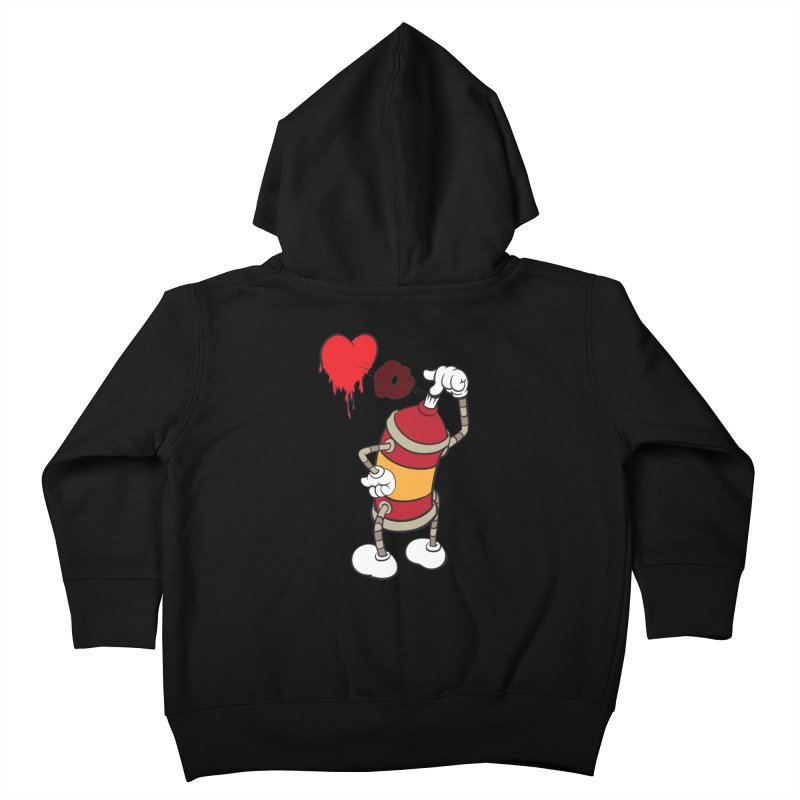 Spray Can Love Kids Toddler Zip-Up Hoody by filsoofdesigns's Artist Shop