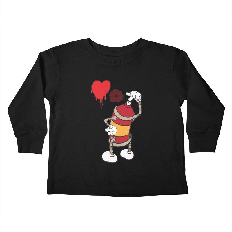 Spray Can Love Kids Toddler Longsleeve T-Shirt by filsoofdesigns's Artist Shop