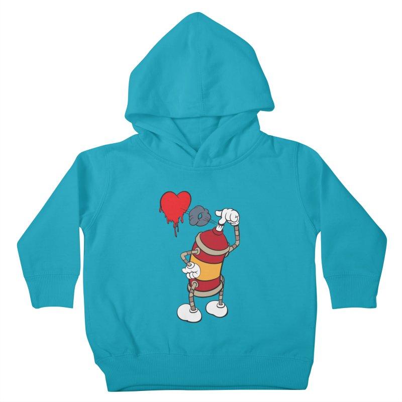Spray Can Love Kids Toddler Pullover Hoody by filsoofdesigns's Artist Shop