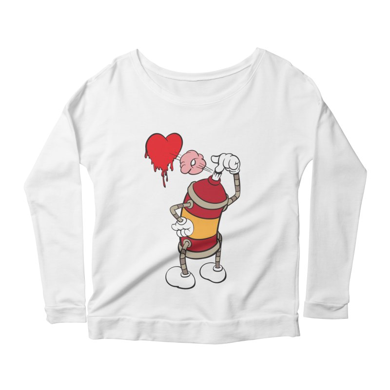 Spray Can Love Women's Longsleeve Scoopneck  by filsoofdesigns's Artist Shop
