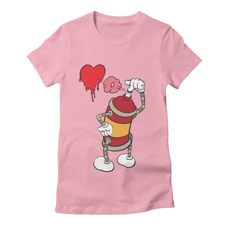 Spray Can Love Women's Fitted T-Shirt by filsoofdesigns's Artist Shop