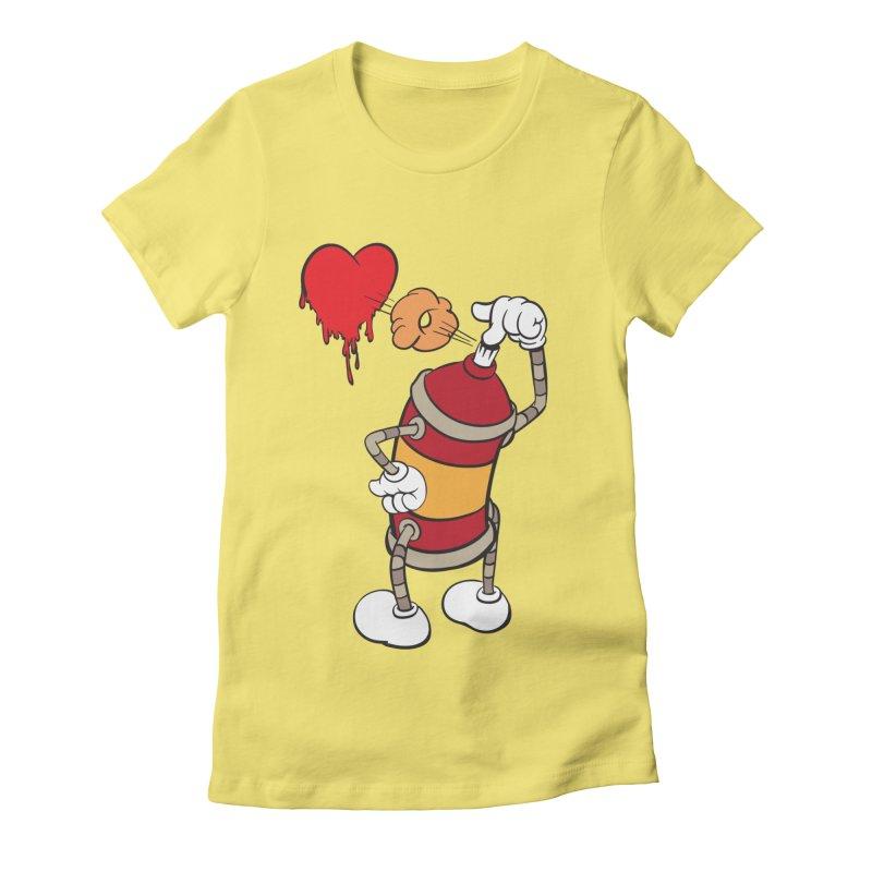 Spray Can Love Women's Fitted T-Shirt by filsoofdesigns's Artist Shop
