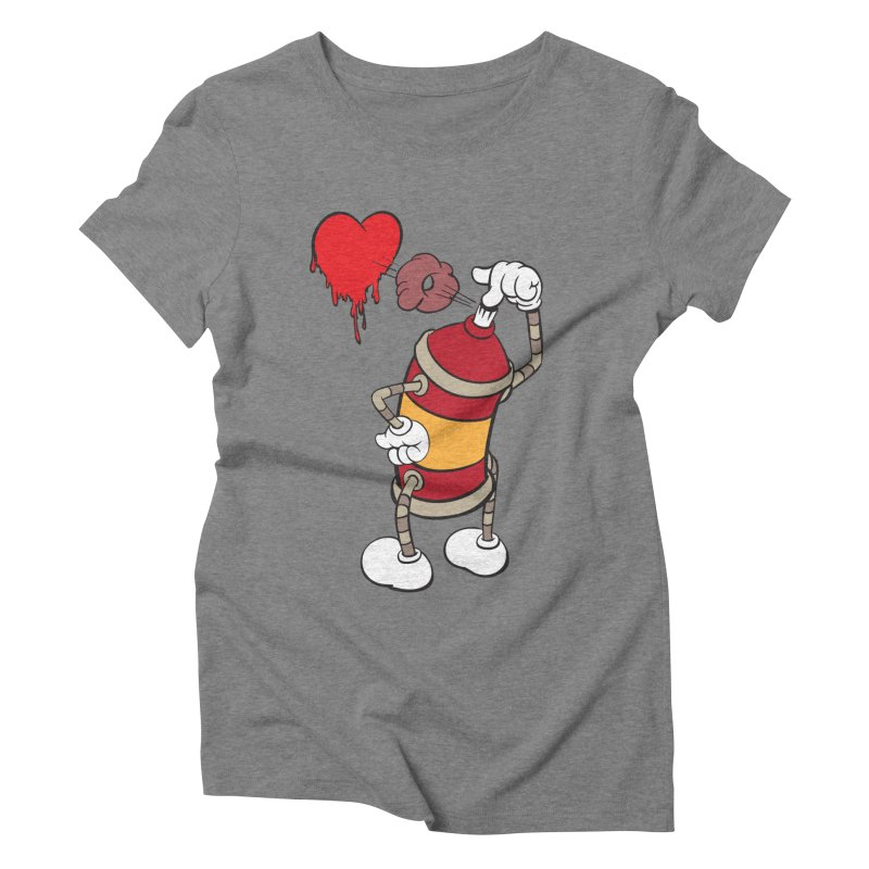 Spray Can Love Women's Triblend T-shirt by filsoofdesigns's Artist Shop