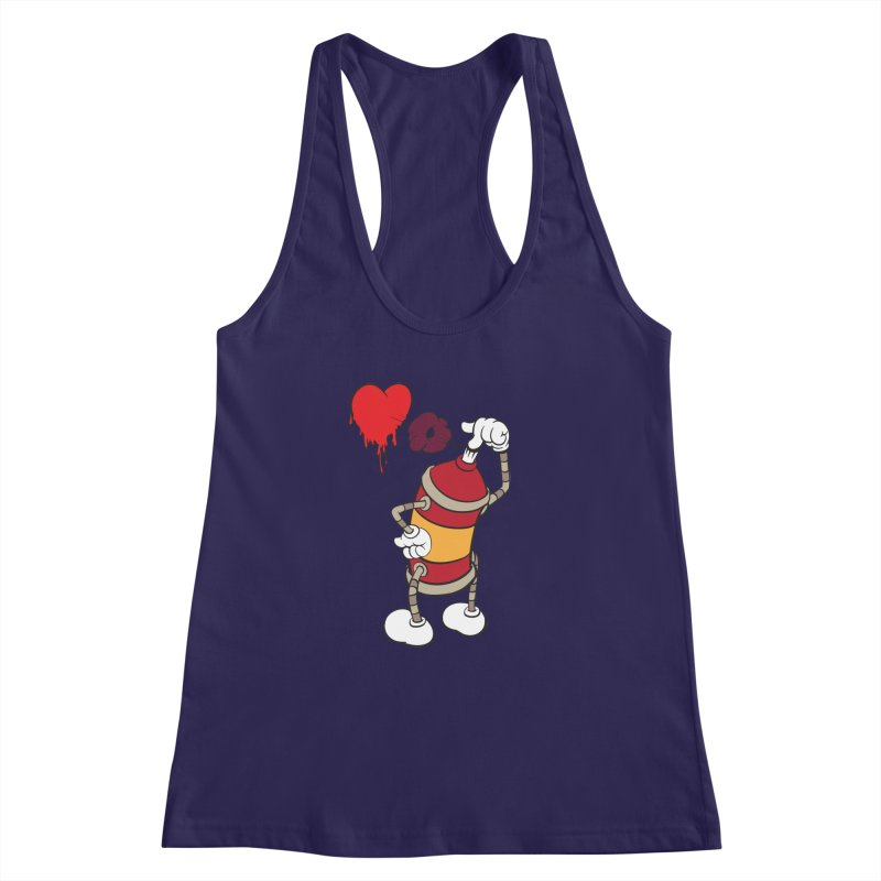 Spray Can Love Women's Racerback Tank by filsoofdesigns's Artist Shop