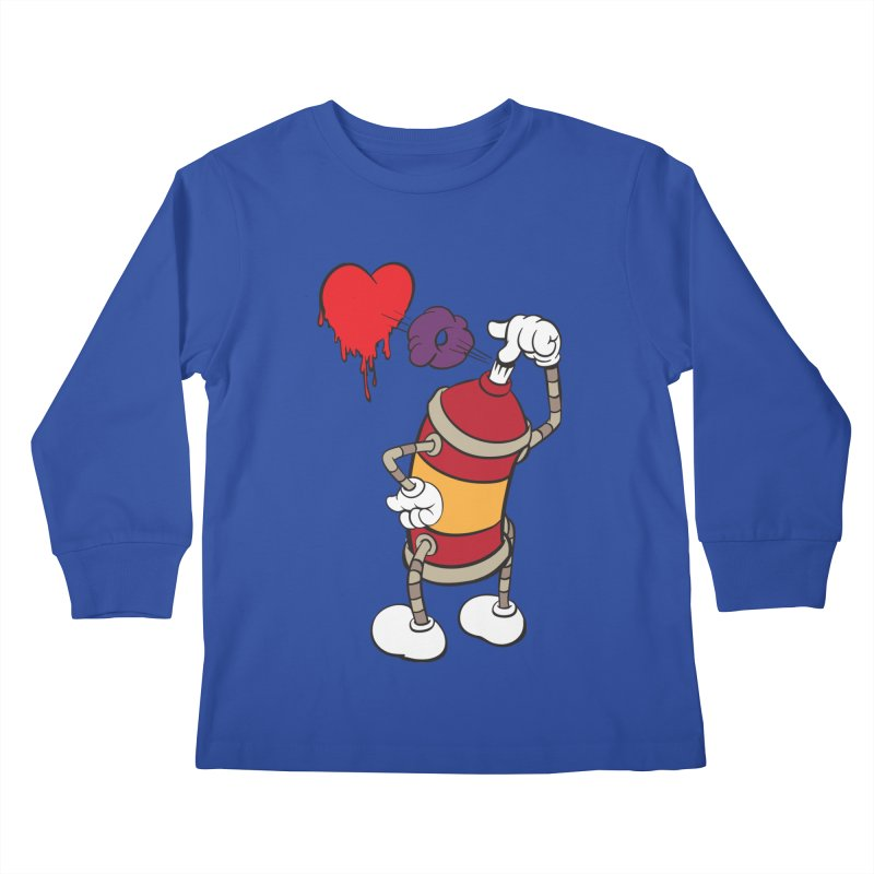 Spray Can Love Kids Longsleeve T-Shirt by filsoofdesigns's Artist Shop