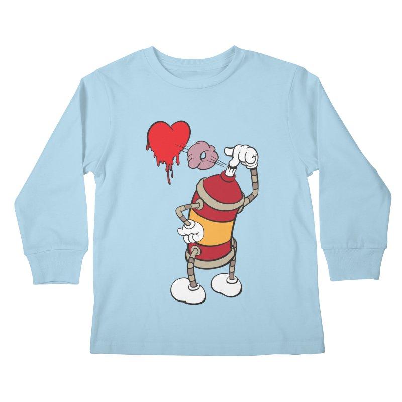Spray Can Love Kids Longsleeve T-Shirt by filsoofdesigns's Artist Shop