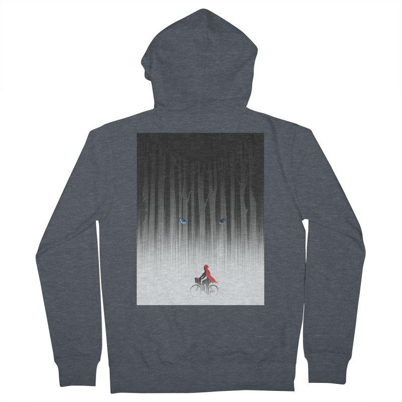 Red Riding Hood Men's Zip-Up Hoody by filsoofdesigns's Artist Shop
