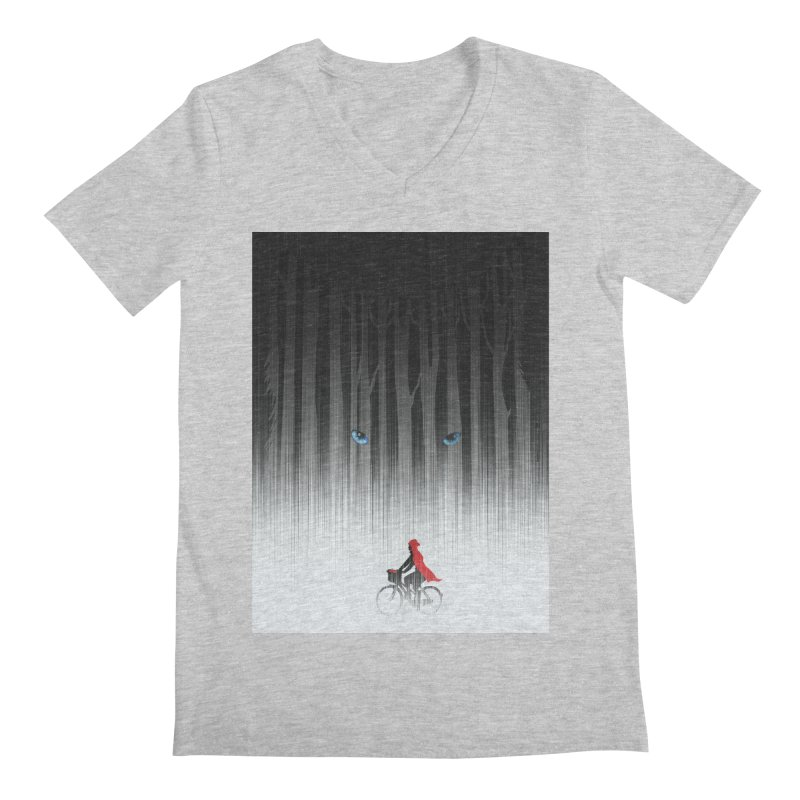 Red Riding Hood Men's V-Neck by filsoofdesigns's Artist Shop