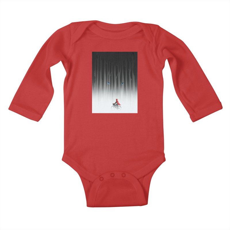 Red Riding Hood Kids Baby Longsleeve Bodysuit by filsoofdesigns's Artist Shop