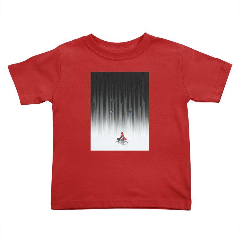Red Riding Hood Kids Toddler T-Shirt by filsoofdesigns's Artist Shop