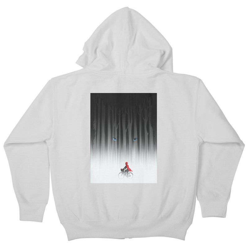 Red Riding Hood Kids Zip-Up Hoody by filsoofdesigns's Artist Shop